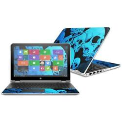 MightySkins 15.6 in. Skin Decal Wrap for HP Pavilion X360 2016 - Blue Skulls