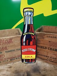 Die cut  Royal Crown bottle sign Soda Fountain drink store  Cola