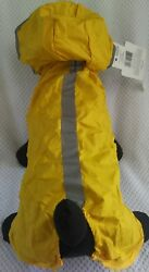 Dog Rain Coat Collar Yellow Size XLarge Reflective Fold Out for SMALL DOG BREEDS $8.50