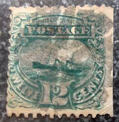 Buffalo Stamps Scott #128 Reprint Pictorial FVF with Fancy Cancel CV = $3350