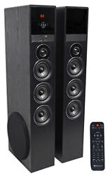 Tower Speaker Home Theater System w Sub For Sony Smart Television TV Black $279.95