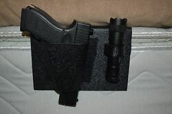 TACTICAL BEDSIDE GUN HOLSTER WITH FREE FLASHLIGHT BLACKHAWK MADE IN THE USA $35.00