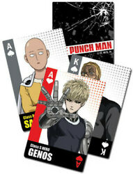 One Punch Man - Bust Group Playing Cards Video Game