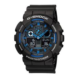 Casio G-Shock Blue and Black Limited Edition GA100-1A2 Military Casual Men New