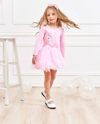 Fall Cotton Long Sleeve Dress for Girl 4 5yr Girl Clothes Party Fall Dresses $19.15
