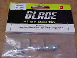 BLADE HELICOPTER PART BLH3714A = ALUMINUM MAIN ROTOR GRIPS : 130 X NEW $18.00
