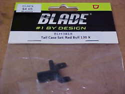 BLADE HELICOPTER PART BLH3818 = TAIL CASE SET : RED BULL 130X NEW $7.00