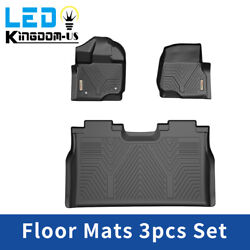 All Weather Floor Mats Floor Liners for 2015 2021 Ford F 150 SuperCrew Cab Black $107.99