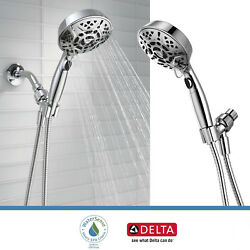 Delta Faucet 7-Spray Handheld Shower Head with H2Okinetic Touch Clean Chrome