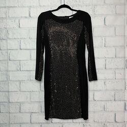CALVIN KLEIN Black SEQUIN DRESS Size 6