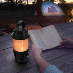 LED Camping Lantern Torch Flickering Flame Effect Light 3 AAA Battery Operated $10.99