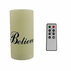 Scented Believe LED Candle Remote Timer Flickering Flameless Remote Timer $9.99
