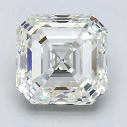 GIA certified Asscher H VS1 diamond 10.01 carats Ex VG VG Comes with the RING