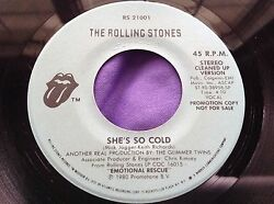 Promo Rock 45 : The Rolling Stones ~ She's So Cold ~ Emotional Rescue ~ RS 21001