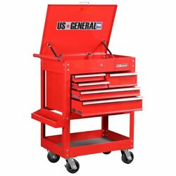 30 in. 5 Drawer Mechanic's Tool Cart Cabinet - Red $339.99