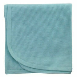 Mint Blue Bambini Infant Thermal Flannel Receiving Blanket Made of 100% Cotton