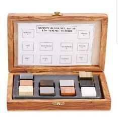 New! United Scientific DCSET10 Density Cube Set 10 Cubes NIB Wooden Box!