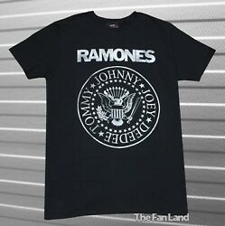 New The Ramones Men#x27;s Rustic Presidential Seal Black Vintage Classic T shirt $21.95