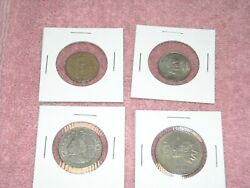 Mexican lot of 4 Coins Cincuenta 20 5 cents 1979 1980   Vintage Foreign World