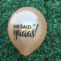 10pcs She said Yaaas Balloons Bachelorette Party Decoration wedding supply IS