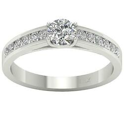 SI1 G 0.70 Ct Round Diamond Solitaire Engagement Ring 14K White Gold Size 4-12