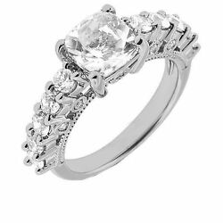 1.76 carat total 1.10 ct Cushion cut Diamond G color SI1 clarity 14k Gold Ring