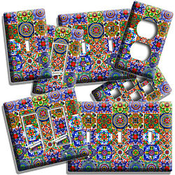 MEXICAN TALAVERA TILES LIGHT SWITCH OUTLET PLATES KITCHEN ART ROOM HOME HD DECOR $10.99