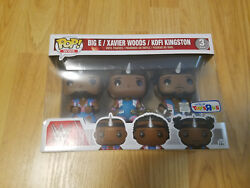 WWE BIG E XAVIER WOODS KOFI KINGSTON FUNKO POP 3 PACK TOYS R US EXCLUSIVE TRU