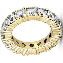 4.80 ct Diamond Eternity Ring 14k Yellow Gold Wedding Band 15 x 0.32 ct Size 5