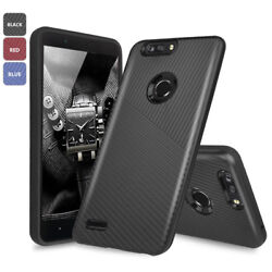For ZTE Blade Z MAXSequoiaZmax Pro 2 Slim Textured Embossed Lines Hybrid Case