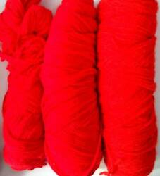 Lot Of 15.5 Ounces Of Worsted Yarn Red Shades Unlabeled Partial Skeins $12.99
