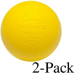 Champion Sports Official Size Rubber Lacrosse Ball Yellow Pack of 2 $9.89