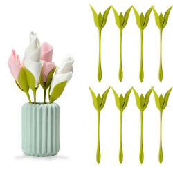 Plastic Twist Napkin Holders Flowers Floral Green For Party Table Decoration DIY
