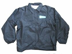 REM R.E.M. Embroidered Up Logo Patch Black Windbreaker Jacket Xl New NOS Rare $34.99