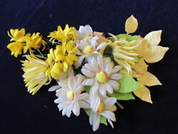 Vtg Millinery Flower Collection Yellow White Daisy 1-2