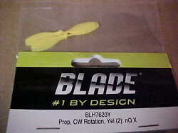 BLADE HELICOPTER PART BLH7620Y = PROP CW ROTATION YELLOW 2 : nQ X NEW $3.60