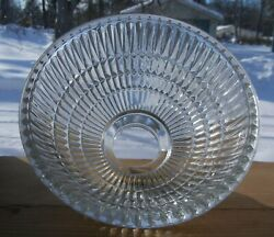 2 1 4quot;FITTER VINTAGE SHADE 4 TIER LOOK RAISED DESIGN THICK CLEAR GLASS 6 5 8quot;W $8.95