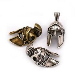 New 2Pcs Spartan Helmet Bead Antique for Paracord Bracelet Keychain DIY Lanyard $6.89