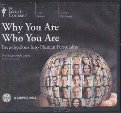 WHY YOU ARE WHO YOU ARE by THE GREAT COURSES ~ 12 CD'S 24 LECTURES + PDF BOOK