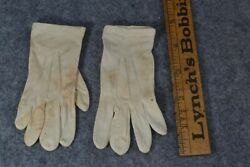 gloves baby doll white silk tiny 4.5 in. long original antique $15.00