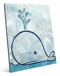 Click Wall Art 'Thar She Blows' Painting Print on Wrapped Canvas