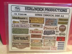 VERLINDEN SUPERBE DECALCOMANIE GERMAN COMMERCIAL SIGNS AO NEUF SOUS BLISTER