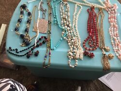 Vintage to modern mix lot of 13 necklaces jewelry