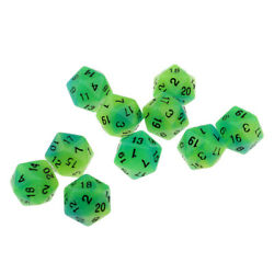 10x Multi sided Dice Night Luminous Noctilucent Dice D20 for Club Dice Game $7.60