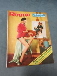 Rogue For Men February 1958 Burlesque Vintage Men#x27;s Pinup Magazine Cheesecake $39.95