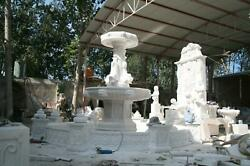 FRENCH DESIGN LARGE EXTERIOR ESTATE HAND CARVED MARBLE FOUNTAIN MFF98