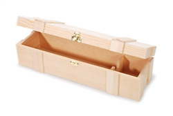 Darice Unfinished Wooden Wine Box Hinged with Clasp Twin Multicolor