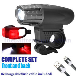 5000 Lumen 8.4V Rechargeable Cycling Light Bicycle Bike LED Front Rear Lamp Set $14.95