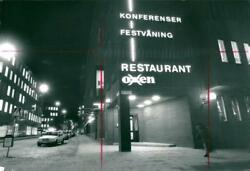 Before the murder of Palme the suspect was seen at the Oxen restaurant on Malms