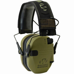Walker#x27;s Patriot Razor Slim Shooting Ear Protection Muffs NRR 23dB Olive Green $46.99
